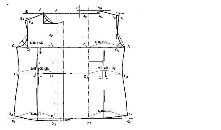 công thức cắt may áo sơ mi nữ cơ bản