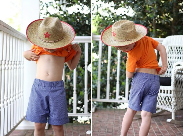 Cách may quần short mùa hè cho bé trai