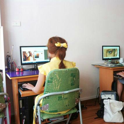 Lớp dạy thiết kế thời trang trên máy tính