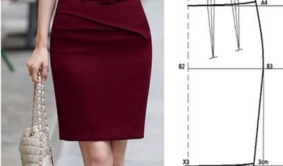 Công thức thiết kế chân váy bút chì